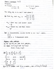 MAT133Y5 Lecture 13: MAT133Y Lecture 13 - Matrix Operations