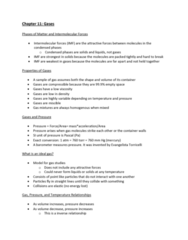 CHEM-C 101 Lecture Notes - Lecture 28: Intermolecular Force, Ideal Gas, Miscibility