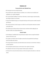 ARTH 1130 Lecture Notes - Lecture 5: Nasrid Dynasty, Muqarnas, Kufic
