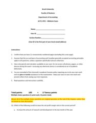 ACTG 1P91 Study Guide - Midterm Guide: Academic Dishonesty, Accrual, Profit Margin