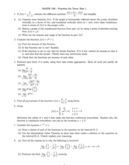 MATH 150 Midterm: MATH150 Test 1 2012 Fall Practice