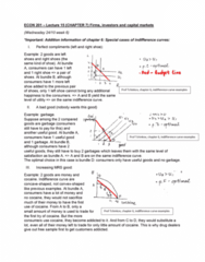 ECON 201 Lecture Notes - Lecture 15: Indifference Curve, Capital Market, Opportunity Cost