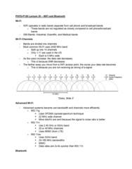 PHYS-P 150 Lecture 30: Lecture 30: WiFi, Bluetooth, and Disks