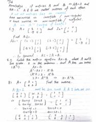 MATH-M 118 Lecture 30: Lecture-M118-The Matrix Inverse