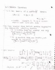 MATH-M 118 Lecture 30: 6.2 Matrix Inverses