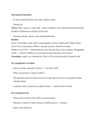 Political Science 1020E Study Guide - Quiz Guide: Unisystem