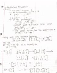 MATH-M 118 Lecture 31: 6.2b Matrix Inverses