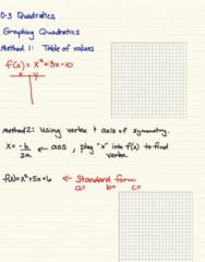 MA 105 Lecture 2: 0-3 Quadratic functions