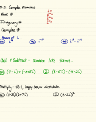 MA 105 Lecture 2: 0-2 Complex Numbers