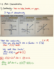 MA 105 Lecture 4: 1-3 More Characteristics Of Functions