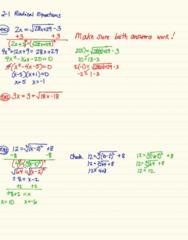 MA 105 Lecture 8: 2-1 Radical Equations