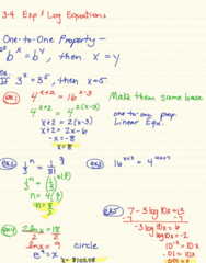 MA 105 Lecture 14: 3-4 Exponential Log Equations