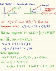 MA 105 Lecture 24: 8-2 Vectors In Coordinate Plane