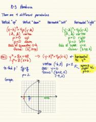 MA 105 Lecture 27: 7-1 parabolas