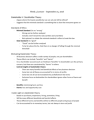 PHILOS 2N03 Lecture Notes - Lecture 9: Stakeholder Theory, Business Ethics, Opportunity Cost