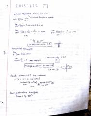 MATA30H3 Lecture 8: calc lec 8
