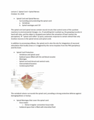 ANAT 1010 Lecture Notes - Lecture 2: Dense Irregular Connective Tissue, Meninges, Intervertebral Foramina