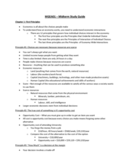 MGEA01H3 Study Guide - Midterm Guide: Opportunity Cost, Human Resources, Unemployment Benefits