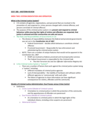 SOCY 388 Study Guide - Midterm Guide: Municipal Police, Adversarial System, Cn Police
