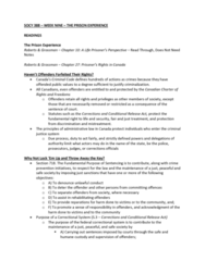 SOCY 388 Lecture Notes - Lecture 9: Chapter 27, Due Process, Sentenced