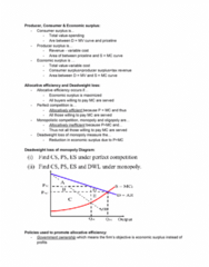 EC120 Lecture Notes - Lecture 16: Deadweight Loss, Economic Surplus, Allocative Efficiency