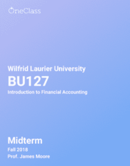 BU127 Study Guide - Fall 2018, Comprehensive Midterm Notes -