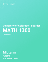 MATH 1300 Study Guide - Fall 2018, Comprehensive Midterm Notes -