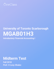 MGAB01H3 Study Guide - Fall 2018, Comprehensive Midterm Notes -