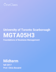 MGTA05H3 Study Guide - Fall 2018, Comprehensive Midterm Notes - Economic Liberalism, Canada, Cable Television