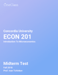 ECON 201 Study Guide - Fall 2018, Comprehensive Midterm Notes - Inflation, Graph Of A Function, Normal Good