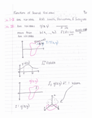 MTH 252 Lecture 1: Functions of Several Variables & 12.1 Representing Points in 3-Space