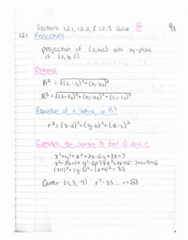 MTH 252 Quiz: Quiz 1 12.1-12.3 Study Guide