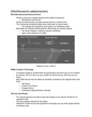 PHYS-P 150 Lecture 35: Lecture 35: Cellphone Tech Part 2