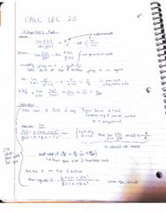 MATA30H3 Lecture 20: calc lec 20