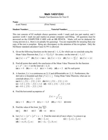 math 1za3 homework
