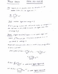 MATH 141 Lecture 35: MATH 141 - Lecture 35 - NOV 14