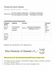 ECON 160 Study Guide - Quiz Guide: Demand Curve, Midpoint Method