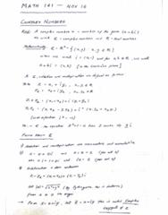 MATH 141 Lecture 36: MATH 141 - Lecture 36 - NOV 16