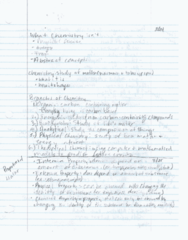 CH 105 Lecture 2: CH 105 Lecture : Matter and Change