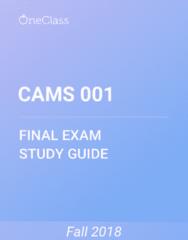 CAMS 001 Study Guide - Comprehensive Final Exam Guide - Order Of Australia, Odysseus, Zeus
