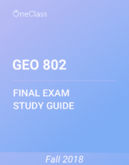 GEO 802 Study Guide - Comprehensive Final Exam Guide - Canada, Agriculture, Thailand