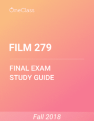 FILM 279 Study Guide - Comprehensive Final Exam Guide - Science Fiction, List Of Minor Dc Comics Characters, Earth