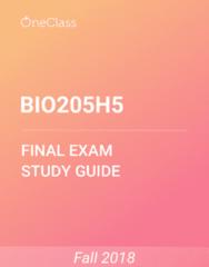 BIO205H5 Study Guide - Comprehensive Final Exam Guide - Pop Music, Test Cricket, Population Dynamics