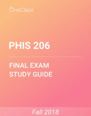 PHIS 206 Study Guide - Comprehensive Final Exam Guide - Protein, Homeostasis, Capillary