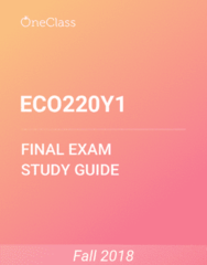 ECO220Y1 Study Guide - Comprehensive Final Exam Guide - Variance, Pearson Product-Moment Correlation Coefficient, Standard Deviation