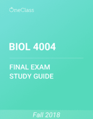 BIOL 4004 Study Guide - Comprehensive Final Exam Guide - Protein, Messenger Rna, Gene