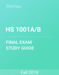 HS 1001A/B Study Guide - Comprehensive Final Exam Guide - Canada, Obesity, Major Depressive Disorder