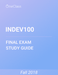 INDEV100 Study Guide - Comprehensive Final Exam Guide - Developing Country, Democracy, International Law