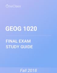 GEOG 1020 Study Guide - Comprehensive Final Exam Guide - Amplitude Modulation, Canada, Agriculture