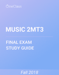 MUSIC 2MT3 Study Guide - Comprehensive Final Exam Guide - Music Therapy, Memory, Visual Cortex